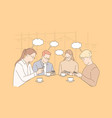 communication thought bubble addiction business vector image vector image