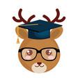 cute little reindeer character vector image vector image