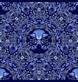 dark blue floral seamless pattern of circular vector image vector image