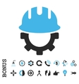 Development Hardhat Flat Icon With Bonus vector image