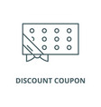 discount coupon line icon linear concept vector image vector image