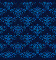 elegant blue seamless damask background vector image