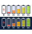 energy level icon charge load phone battery vector image