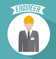 Engineer icon design vector image vector image
