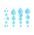 falling water icon clean droplet logo template vector image