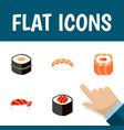 flat icon salmon set of seafood japanese food vector image
