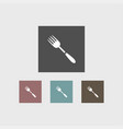 fork icon simple vector image vector image