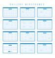 gallery wireframe components for prototypes vector image vector image