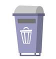 garbage bin cartoon vector image vector image