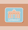 germany traveling badge magnet isolated vector image