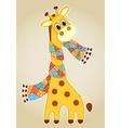 Giraffein in a scarf aplication vector image vector image
