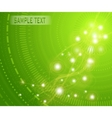 green background with light flares vector image vector image