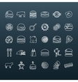 hamburger outline icons vector image vector image