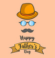 happy father day background hand draw vector image vector image