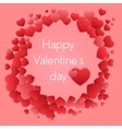 Happy valentines day card with hearts Valentine vector image vector image