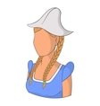 Holland woman icon cartoon style vector image vector image