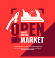 house repair open market vintage poster vector image