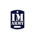 i am army logo symbol icon template