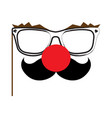 isolated clown glasses vector image vector image
