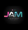 jam j a m three letter logo icon design vector image vector image