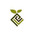 landscape design logo design template vector image vector image