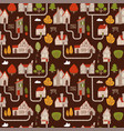 landscape seamless pattern for countryside vector image vector image