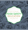 national food safety education month logo icon vector image vector image