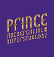 prince alphabet gaming stylized font isolated vector image vector image