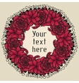 round floral wreath like bouquet red flowers in vector image vector image
