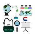 school student stuff set vector image