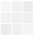seamless diamonds patterns set vector image vector image