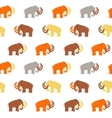 Seamless Pattern with Mammoth silhouettes vector image
