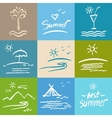 Set brush painted Vacation travel vector image