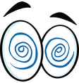 Set of cartoon eyes vector image vector image
