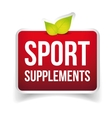 Sport Supplements sign vector image