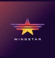 star logo design vector image