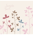 summer flowers cotton vector image vector image