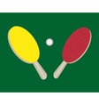 two tennis rackets vector image vector image