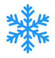 winter snowflake isolated on white vector image vector image