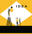 woman changing idea bulb vector image
