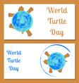 world turtle day land tortoise the tortoise shell vector image vector image