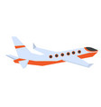 commercial airplane cartoon vector image