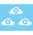 cloud computing database vector image