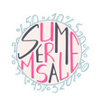 a hand-drawn lettering for the summer sale vector image vector image