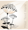 Abstract decorative flower vector image