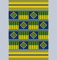 african print cloth kente seamless pattern vector image vector image