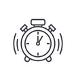 alarm clock line icon sign vector image vector image