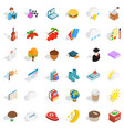 autumn icons set isometric style vector image vector image