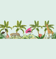 baner animal in jungle vector image