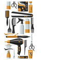 barbershop seamless pattern with professional vector image